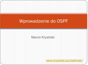 Wprowadzenie do OSPF